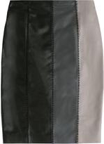 Paule Ka Leather Skirt