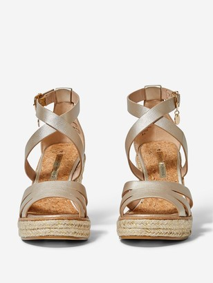 Dorothy Perkins Rolly Ankle Wedge - Gold