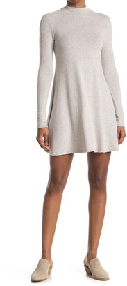Threads And States Cozy Mock Neck Long Sleeve Shift Dress