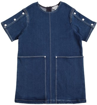 Stella McCartney Kids Stretch Denim Dress W/ Stitching Details
