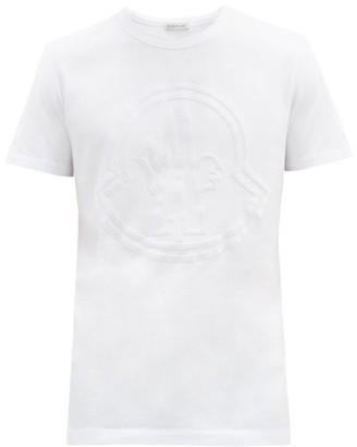 Moncler Embossed-logo Cotton T-shirt - White