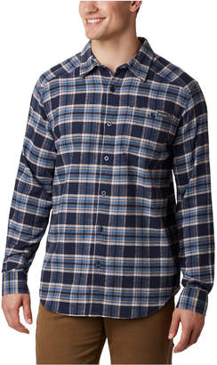 Columbia Men Cornell Woods Regular-Fit Stretch Plaid Flannel Shirt