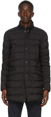 Herno Black Down Classic Blazer Jacket