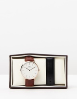 Daniel Wellington Iconic Exclusive - St Mawes Sheffield 40mm Gift Set