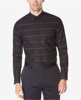 Perry Ellis Men's Big & Tall Striped Hidden-Placket Shirt