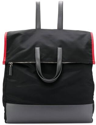 Prada oversized panelled backpack