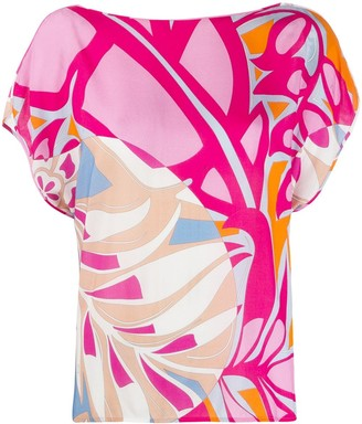 Emilio Pucci Shortsleeved Printed Blouse