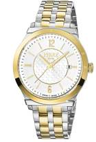 Ferré Milano Men's FM1G066M0071 Silver Dial with Two-Tone stainless-Steel Band Watch.