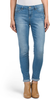 High Waist Rolled Skinny Jeans