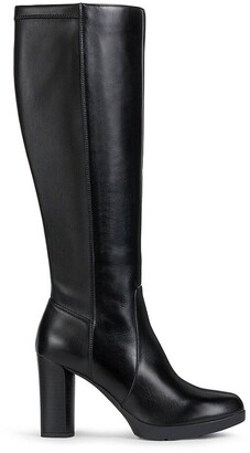 Geox Anylla Knee-High Boots in Leather