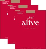 Hanes Womens Set o 3 Aliveull Support Control Top RT Pantyhose