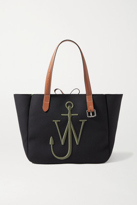 J.W.Anderson Leather-trimmed Embroidered Canvas Tote