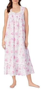 Eileen West Ballet Floral Print Sleeveless Nightgown