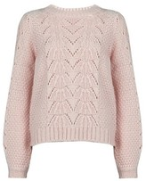 Manufacturer Size: S 8 Pink SPARKZ Womens PURE CASHMERE O-NECK PULLOVER Jumper Pale Blush
