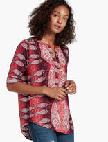 Lucky Brand Paisley Popover Tunic
