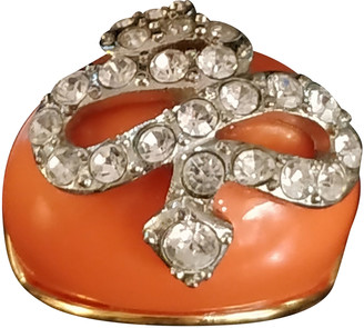 Kenneth Jay Lane Orange Gold plated Rings