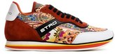 Etro Women's Orange Leather Sneakers.