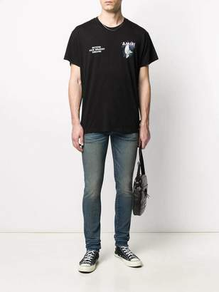 Amiri rainbow dove t-shirt black