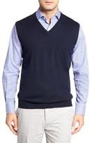 Peter Millar Men's Merino Wool V-Neck Vest