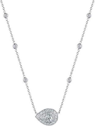 Penny Preville Horizontal Pave Pear Shape Pendant Necklace