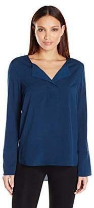BCBGeneration Women's Wide Placket-Henley Shirt