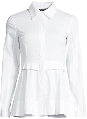Donna Karan Peplum Dress Shirt