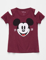 Mighty Fine DISNEY Mickey Mouse Girls Cold Shoulder Tee