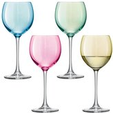 LSA International 400 ml Assorted Polka Wine Glass Pastel (Pack of 4)