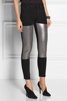 Acne Skin 5 Pocket Black Foil skinny jeans
