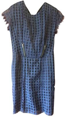 Religion Blue Silk Dress for Women