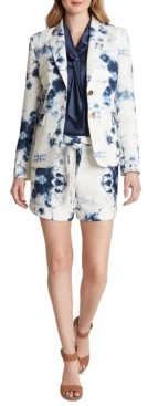 Tahari ASL Floral Two-Button Blazer