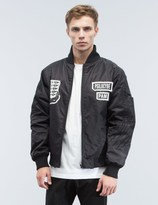 Perks And Mini Psilocybe Patched Bomber Jacket