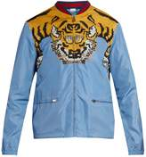 Gucci Tiger-print shell bomber jacket