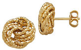Lord & Taylor 14K Yellow Gold Love Knot Stud Earrings