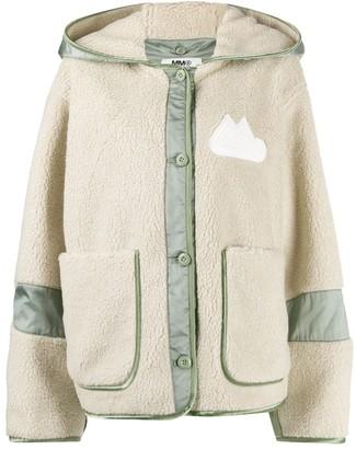 MM6 MAISON MARGIELA Hooded Faux-Shearling Jacket