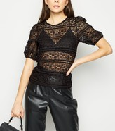 New Look Lace Puff Sleeve T-Shirt