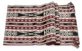 Maroon and Black Woven Cotton Table Runner , 'Mystical Maize'