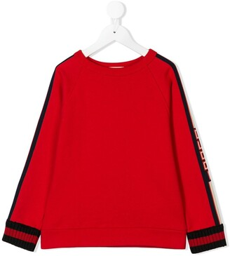 Gucci Kids Logo Sleeve Sweatshirt