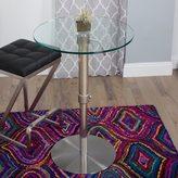 Matrix Krib Round Glass Adjustable Height Pub Table