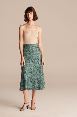 Rebecca Taylor Tailored Margaux Paisley Skirt