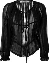 Etro sheer cardigan - women - Cotton - 42