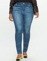 ELOQUII Plus Size Moto Patchwork Jeans