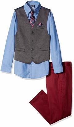 Nautica Big Boys' Set with Vest Pant Shirt and Tie