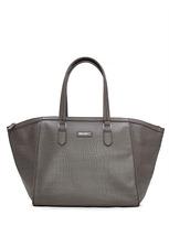 MANGO Crocodile effect shopper bag