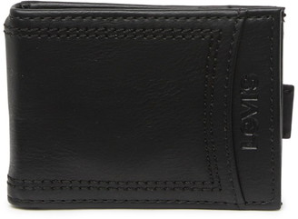 Levi's Delgado RFID Flick Bar Leather Wallet