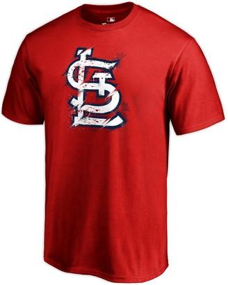Men's Fanatics Branded Red St. Louis Cardinals Splatter T-Shirt