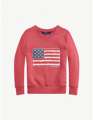 Ralph Lauren Floral-print appliqued cotton-jersey sweatshirt 2-12 years