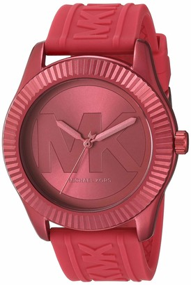 Michael Kors Women's Quartz Watch with Silicone Strap