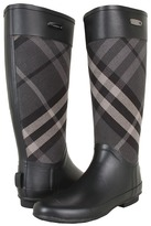 Burberry Check Panel Rainboots Women's Rain Boots