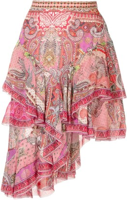 Camilla Layered Asymmetric Skirt